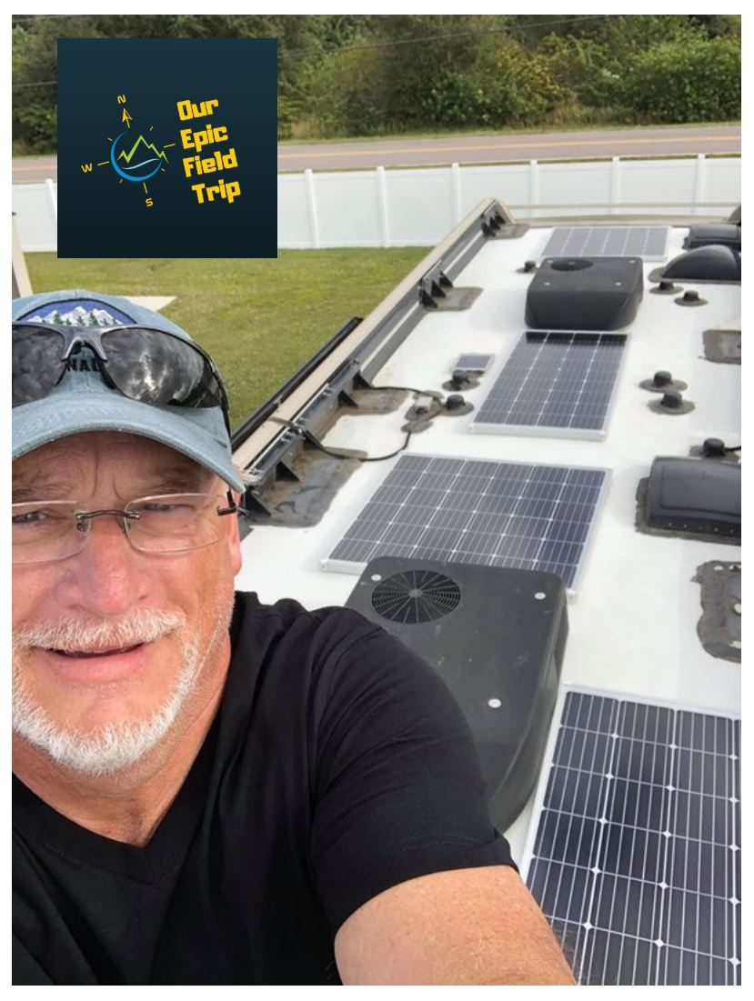 Motorhome solar panel installation